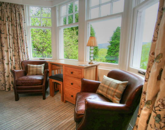 Room 2 bay window overlooking Pitlochry