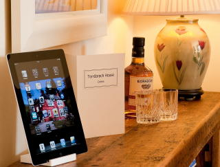 Pitlochry accommodation - make use of our ipad in the lounge