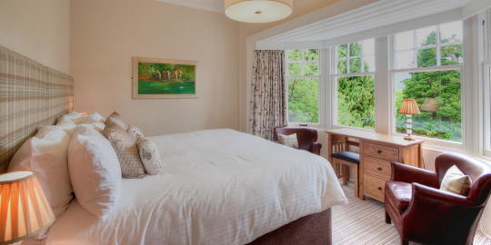 Room 2 with bay window overlooking Pitlochry
