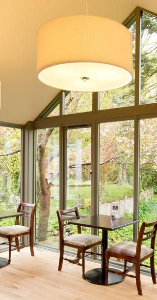 New breakfast room overlooking the garden